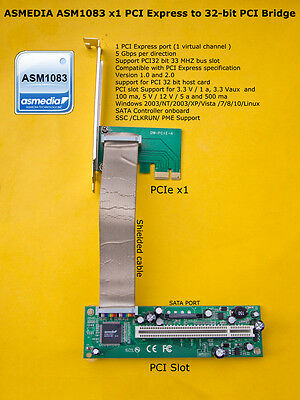 ASMEDIA ASM1083 Chipset PCIe x1 to PCI Bridge with SATA Controller