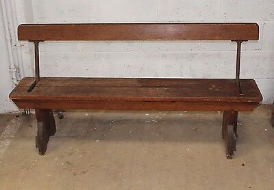 Vintage Reclaimed Tram /Church Bench Seat with Reversible Back Rest