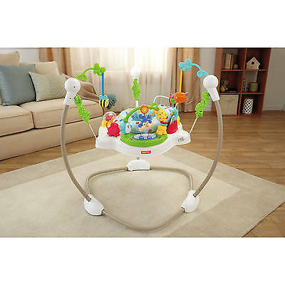 Fisher Price Jumperoo Zoo Party Activity Baby Seat Bouncer Jumper Chair Music