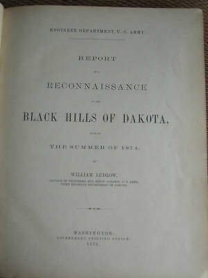 Extremly Rare 1st Edition of  a Reconnaissance of the Black Hills of Dakota