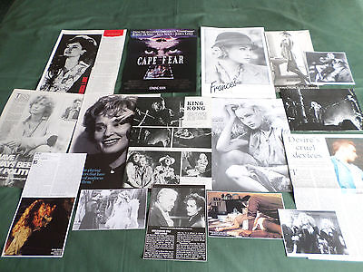 Jessica Lange - Film Star  - Clippings /cutting Pack