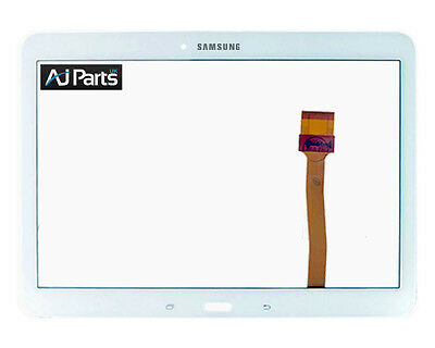 """New Samsung Galaxy Tab 4 10.1"""" T530 White Digitizer Touch Screen Lens Glass"""