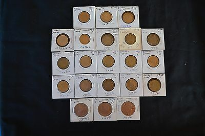 Sweden 1 Krona and 2 Krona Coins 1875 - 1968