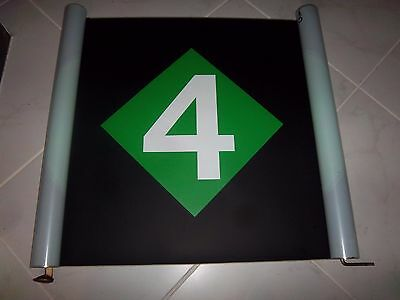 Large 26X23 Vintage Nyc Subway R62 Route Roll Sign #4 Express Train Ny Urban Art