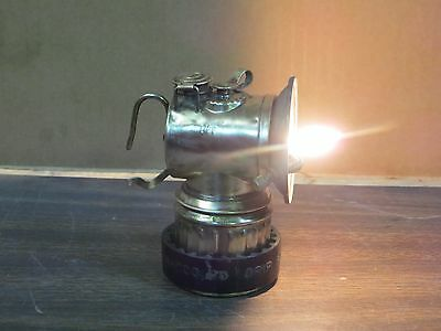 Antique Polygon Feed Horizonal Justrite Miners Lamp