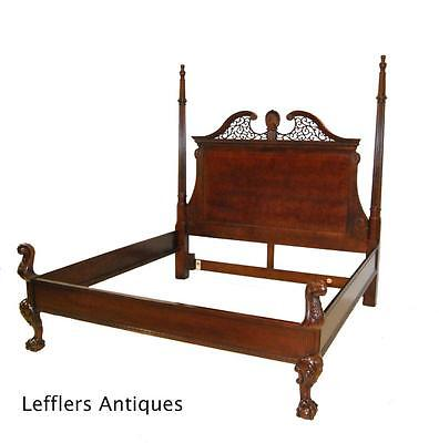 Mahogany KIng Site Poster Bed by Century Furniture, Claridge Collection