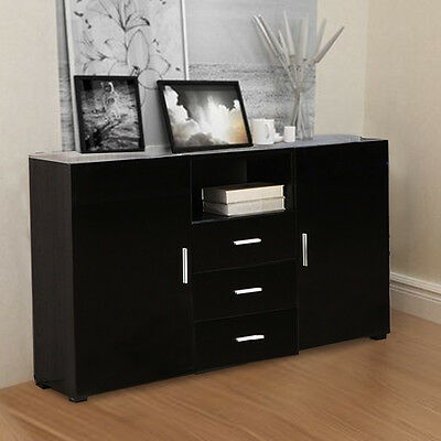 2 Door 3 Drawer High Glosss Sideboard Cabinet Chest Drawers Cupboard Furniture