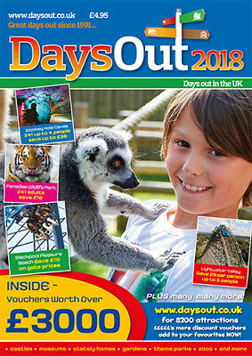 Days Out Voucher Magazine - £3000 of vouchers to zoos, theme parks, karting+more