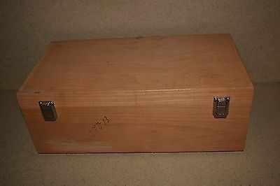 "++ Wood Hard Equipment Carrying Case - 18X9X5"" Inside W/ Foam (3C)"