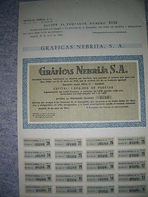 SPAIN: Graficas Nebrija S.A. Madrid, 1945, only 1000 issued