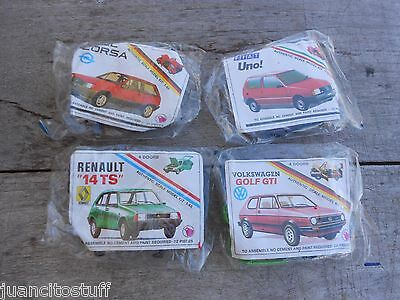 vintage 1980s PEPSI URUGUAY AD cars to arm ALL MINT vw golf renault SCALE 1:48