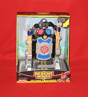 2005 Rescue Heroes Action Trackers JAKE JUSTICE POLICE PATROLLER Figure NEW HTF