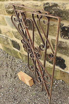 Wrought Iron Brackets Forms Wall Fixed Table Base - Yorkshire Dales Reclaim