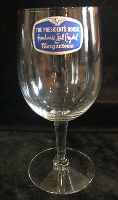 Morgantown Handmade Crystal THE PRESIDENT'S HOUSE Wine Glass