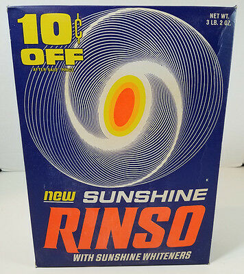 Vintage Sunshine Rinso Laundry Detergent NOS Giant Size Lever Bros.
