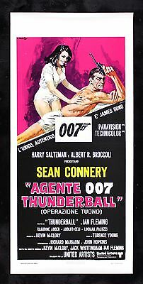 THUNDERBALL * CineMasterpieces JAMES BOND 007 RARE ITALY ITALIAN MOVIE POSTER
