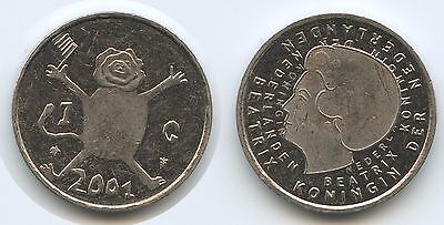 G12170 - Niederlande 1 Gulden 2001 KM#233 Child Art Netherlands