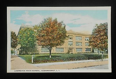 1910s Lawrence High School Cedarhurst NY Nassau Co Postcard New York
