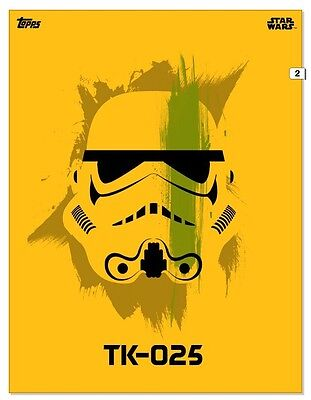 Topps Star Wars Card Trader Yellow Open TK-025