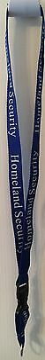 DHS HOMELAND SECURITY LANYARD ID Badge Holder Key Ring Federal Customs TSA SSA
