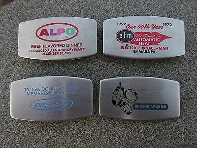 Lot of 4 Vintage1970's Zippo Pocket and Money Clip Knives