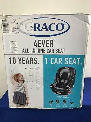 Graco Baby 4Ever All-in-1 Convertible Car Seat Booster Matrix 4-120lbs NEW (T6)