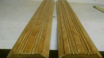 Lot of 2 Antique Victorian Style Door Casing Trim pine Architectural Salvage