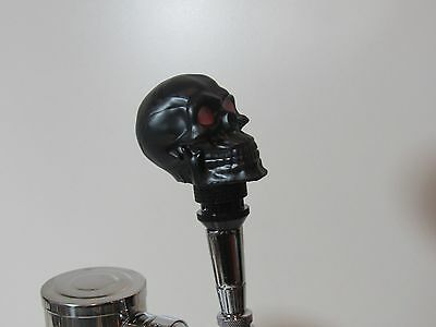 New Black Skull Beer Tap Handle Sports Bar Brew Unique Resin Hand Made Rare Red