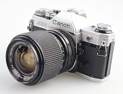 Canon AE-1 35mm Film Camera + 35-70mm Zoom Lens