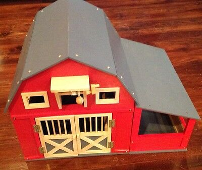 Red Gable Barn Kids Play House FREE SHIPPING Assembled