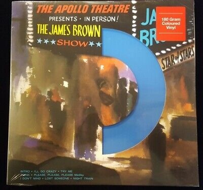 JAMES BROWN Live At The Apollo LP NEW COLORED VINYL Dol 180g blue wax Fabulous F