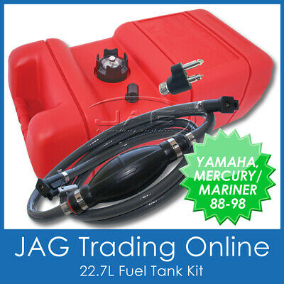 Boat Fuel Tank Kit - Yamaha/mercury Fuel Line & Fitting & 22.7 Litre Petrol Tank