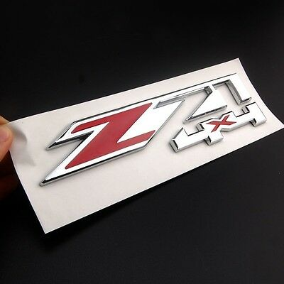 New Emblem Z71 4x4 Emblems For Chevy Chevy Silverado series, GMC Sierra trucks