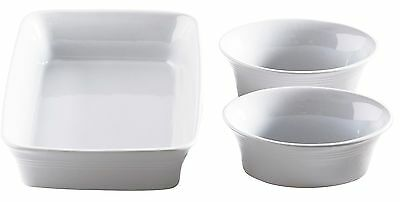 Mason Cash Set of 3 Piece 1 Rectangle Roasting Dish & 2 Casserole Oven Dishes