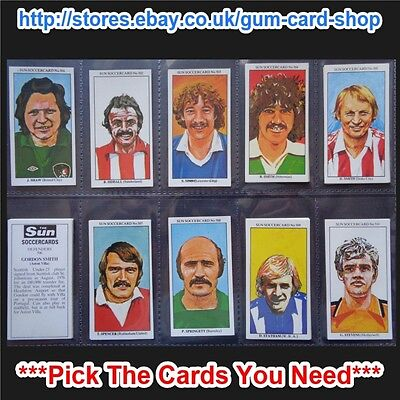 The Sun Soccercards 1978-79 (Vg) (Card 501 To 600) *Please Choose Cards*