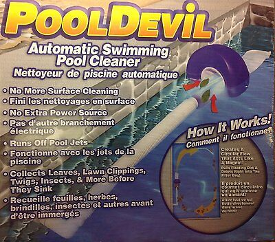 Pool Devil Pooldevil Automatic Swimming Pool Cleaner - FREE Shipping USA Seller