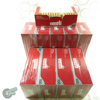 1000 Ventti Empty Tobacco Cigarette filter tubes with king size cork fillers