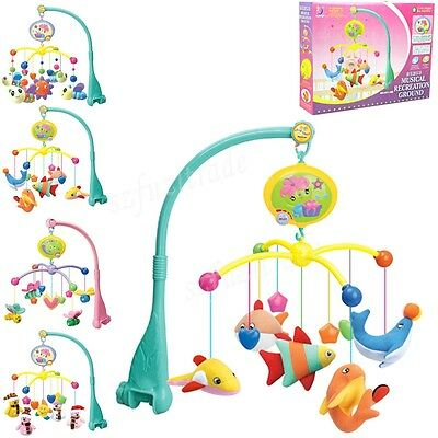 NEW Rotating Carousel Baby Child Kid Crib Mobile Musical Music Bed Bell Bracket