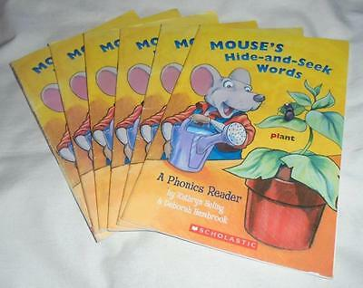Guided Reading: Set of 6 Mouse's Hide-and-Seek Words: Phonics