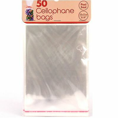 "5x4"" PEEL & SEAL CLEAR CELLOPHANE CELLO DISPLAY BAGS LOLLIPOPS CAKE SWEETS PARTY"