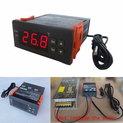 Digital Temperature Controller Thermostat -40-110℃ W/ Sensor 12V24V110V220V