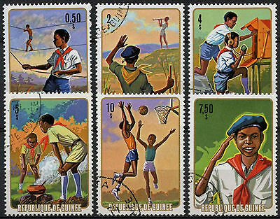 Guinea 1974 SG#863-8 National Pioneers Scouts Cto Used Set#A82829