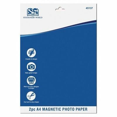 2 x MAGNETIC NEW PHOTO PAPER A4 Inkjet Sheet CREATE PICTURE FRIDGE MAGNETS