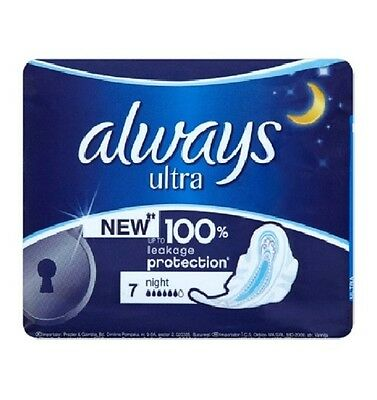 Always Ultra Night Sanitary Towels with Wings