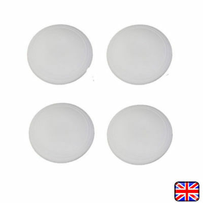 WHITE ROUND WALL PROTECTORS Buffer Door Handle Guard Bumper Rubber Stopper Stop