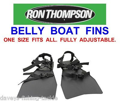 Ron Thompson Belly Boat Fins For Sea Coarse Game Fishing Float Tube Rigs Lures