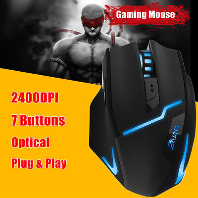 New 2.4G Wireless 2400DPI Adjustable Game Gaming Mouse Mice for Laptop PC Gamer