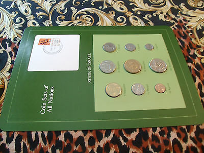 Coin Sets of All Nations Israel  w/card 1980 - 1984 UNC 1 & 10 Sheqalim 1983