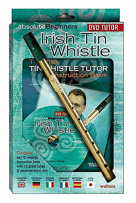 The Irish Tin Penny Whistle Learn How To Play Includes Whistle, Music Book & DVD