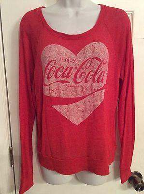 Vintage Enjoy Coca Cola Red Knit Sweater Size Large